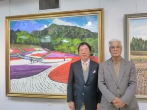 周東 寬醫師與畫展主辦者長山雄三先生