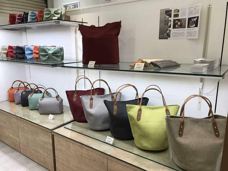 こんなおしゃれなバッグや小物もメイドイン台湾。