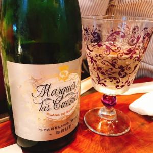 スパークリングワインで乾杯しました~