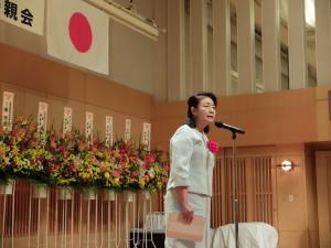 日本中華聯合総会新垣旬子会長からも祝辞をいただきました